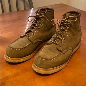 Red Wing Green Suede Boots